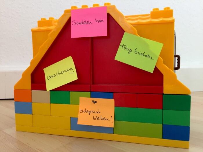 Lego Haus und to do Liste