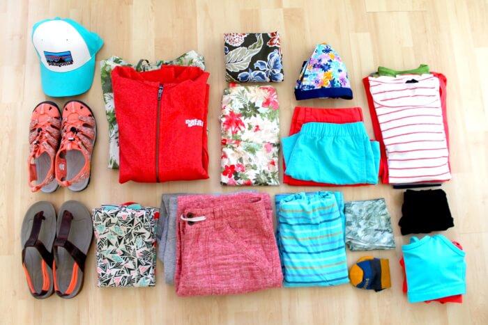 Packliste Kleidung