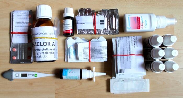 Packliste Medikamente Kind