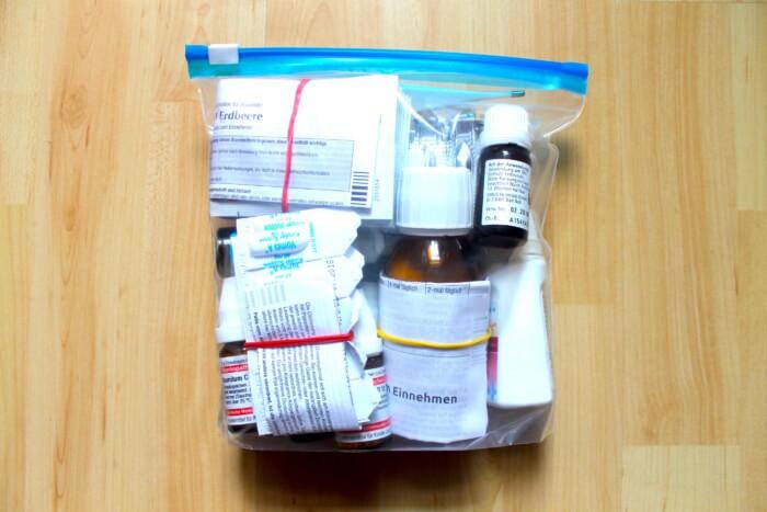 Packliste Medikamente Kind Ziplock