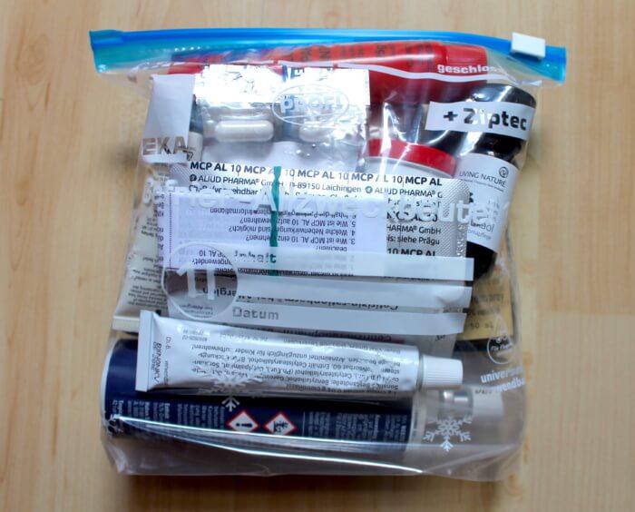 Packliste Medikamente Ziplock