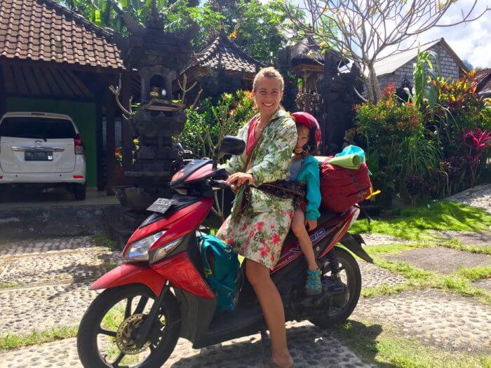 Auf dem Roller durch Bali