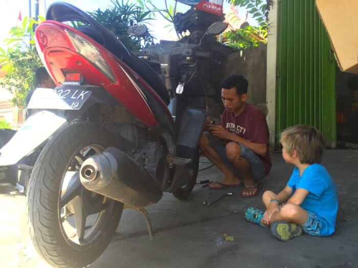 Panne auf Bali