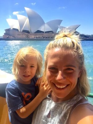 Sydney mit Kind