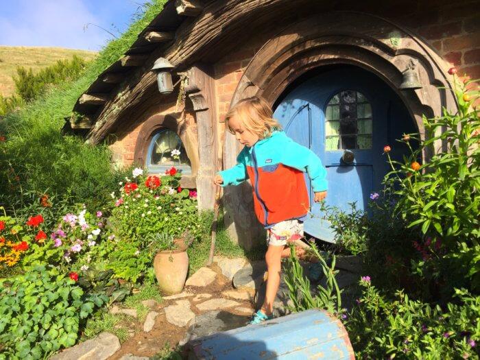 Hobbits auf Neuseeland Reise mit Kind