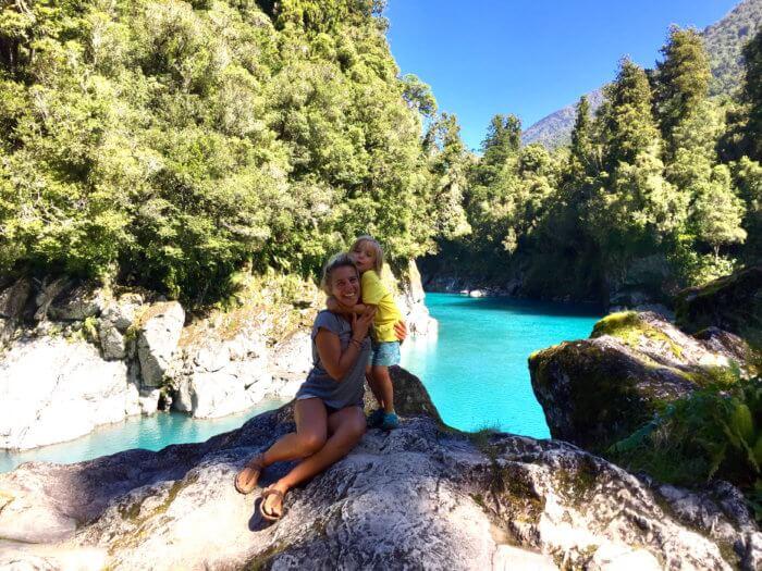 Natur auf Neuseeland Reise mit Kind