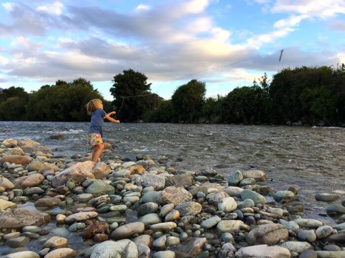 Neuseeland mit Kind - Landschaft