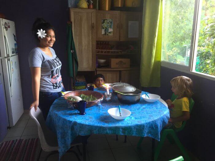 Unterwegs mit Kind uns schlafen bei Einheimischen
