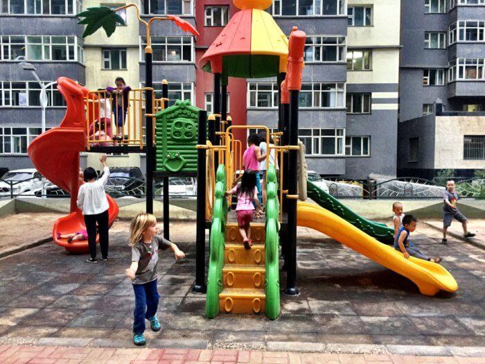 Spielplätze in der Mongolei - Mongolei mit Kind