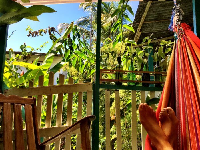 Leben im Dschungel in Panama mit Kind