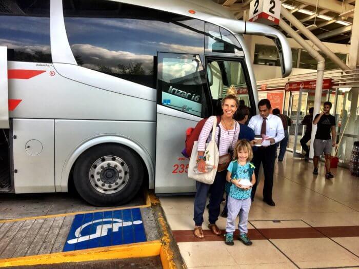 Mexiko mit Kind - Bus fahren