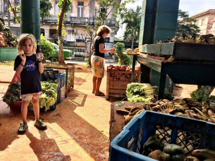 Kuba mit Kind - Essen