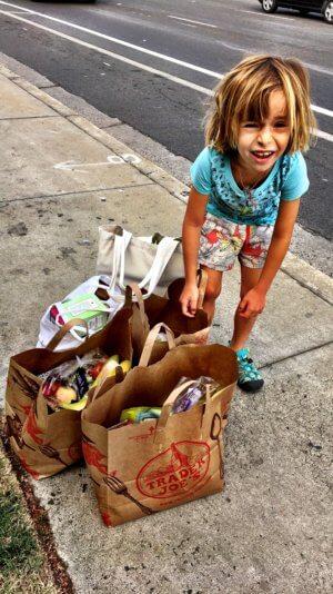 Shopping in Kalifornien mit Kind
