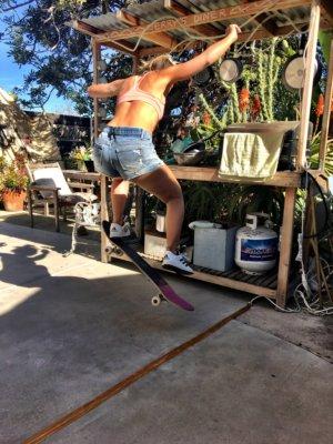 Skaten in Kalifornien mit Kind