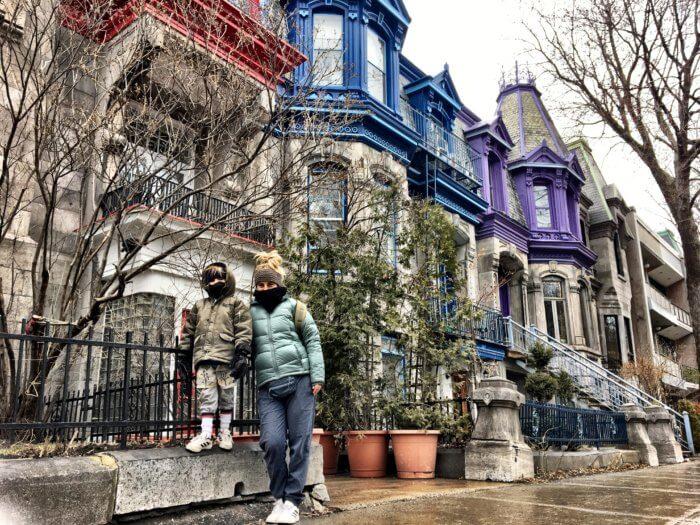 Kanadische Frühlingsgefühle in Montreal mit Kind