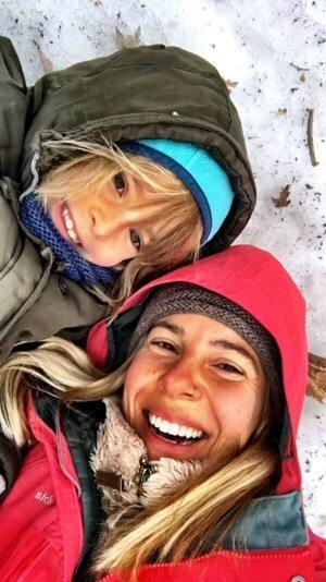 Kanadische Frühlingsgefühle in Montreal mit Kind - Schneeeibruch