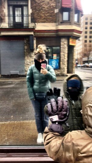 Kanadische Frühlingsgefühle in Montreal mit Kind - Warme Kleidung